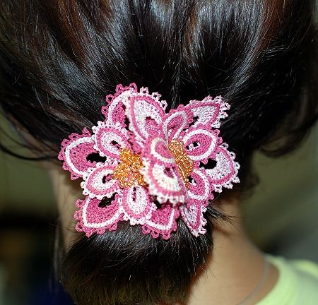 machine embroidery hair clip designs