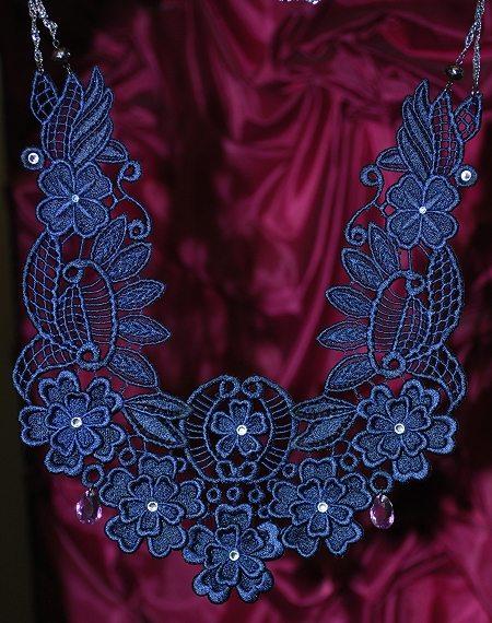 Advanced Embroidery Designs Fsl 3d Necklace Set