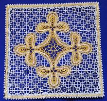 FSL Battenberg Square Doily or Insert