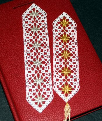 Advanced Embroidery Designs Freestanding Bobbin Lace Bookmark Set Ii