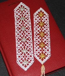 Freestanding Bobbin Lace Bookmark Set II