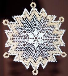 Freestanding Bobbin Lace Snowflake
