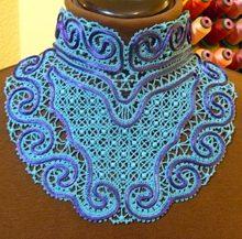 "FSL Battenberg Lace Choker Collar II for 5"" x 7"" (130 x 180 mm) Hoops"