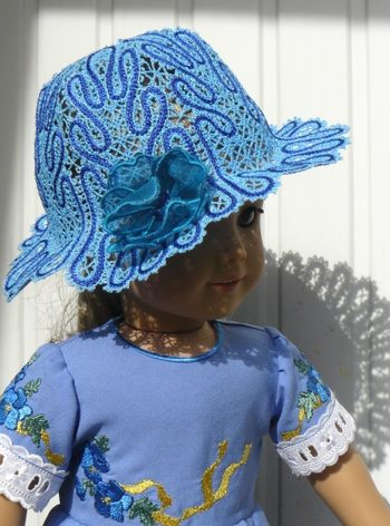 FSL Battenberg Lace Hat for 18-inch Dolls