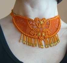 FSL Battenberg Butterfly Necklace Set