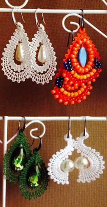 Advanced Embroidery Designs Fsl Battenberg Earring Set