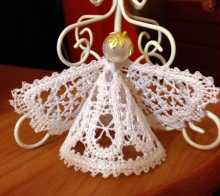 Freestanding Battenberg Lace Angel