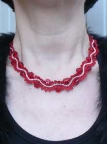 Freestanding Battenberg Lace Regency Necklace