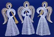 FSL Battenberg Angel Ornament Set