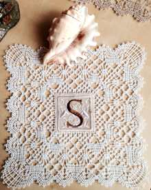 Freestanding Bobbin Lace Doily with Fabric Insert