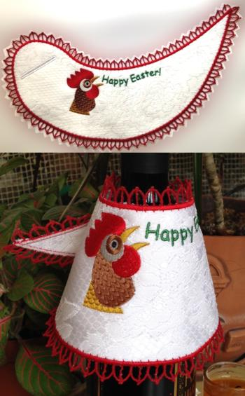 Happy Easter Freestanding Bottle Apron