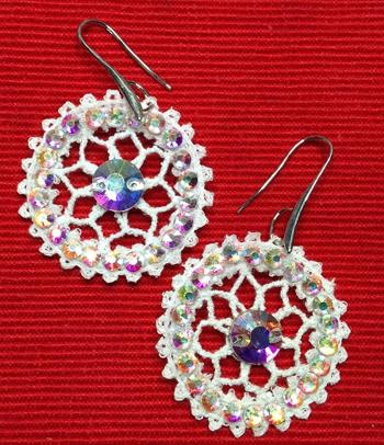 FSL Battenberg Wheel of Fortune Earring Set
