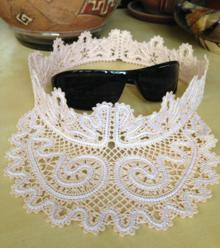 "FSL Battenberg Lace Visor for 5"" x 7"" Hoop"