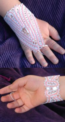 FSL Battenberg Fingerless Lace Gloves for a Girl
