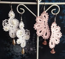 FSL Battenberg Lace Earring Set