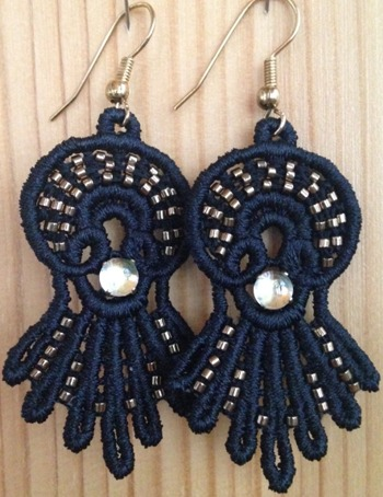 Freestanding Lace Sunrise Earrings