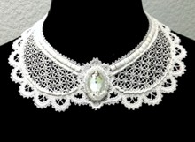Freestanding Battenberg Lace Victorian Dress Collar