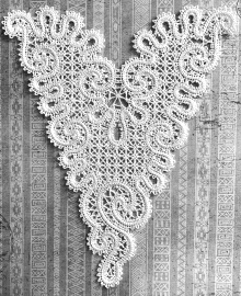 Freestanding Battenberg Lace Insert or Doily