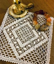 TBobbin lace square doily