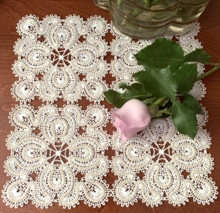 Freestanding Battenberg Lace Square Motif