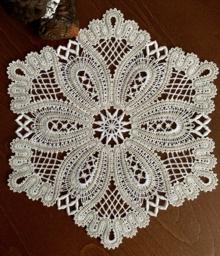 Freestanding Battenberg Lace Snowflake Doily Machine Embroidery Design