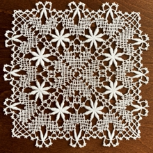 Star Flower Freestanding Bobbin Lace Doily