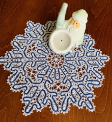 Freestanding Battenberg Lace Winter Doily