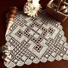 Freestanding Bobbin Lace Diamond Doily