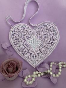 FSL Battenberg Lace Bridal Bag Set of 2 Freestanding Lace Machine Embroidery Designs