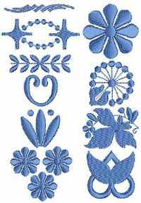 Embellishment set of machine embroidery designs