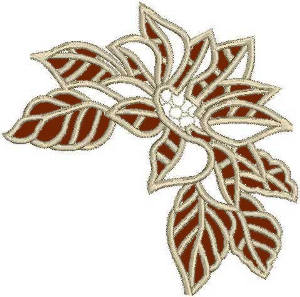 Poinsettia Lace Corner