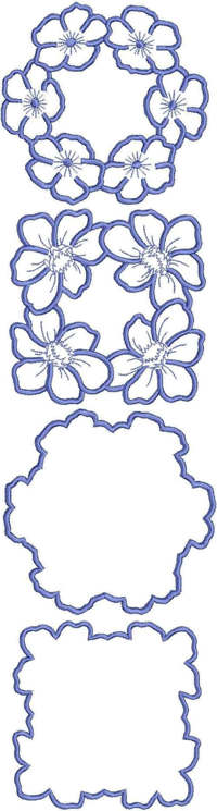 Flower Doily Set