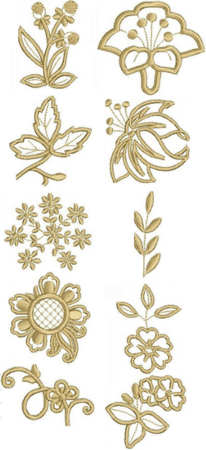 Flower Embellishment Set