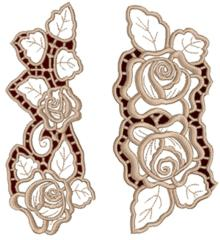 Rose Lace Border Set