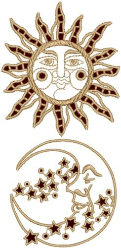 Advanced Embroidery Designs Sun And Moon