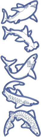 Shark Applique Design Set