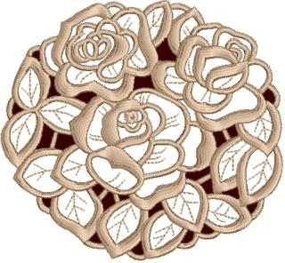 Three Rose Doily