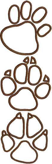 Animal Paw Applique Set