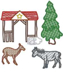 Nativity Scene Applique Set