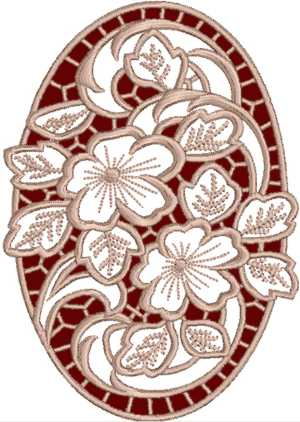 Cutwork Oval Geranium Lace