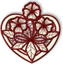 Valentine Heart Cutwork Lace