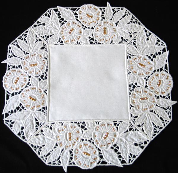 Advanced Embroidery Designs  Cutwork Lace Square Border