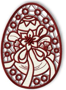Easter Egg Cutwork Lace