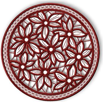 Cutwork Lace Flower Bed Doily