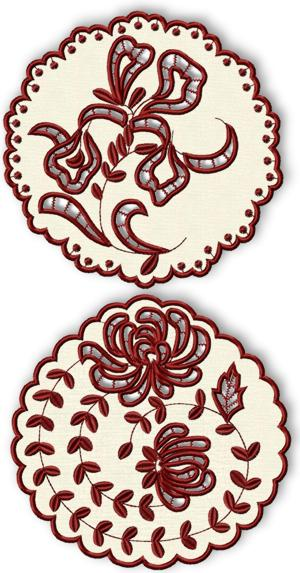 Cutwork Lace Flower Doily Set