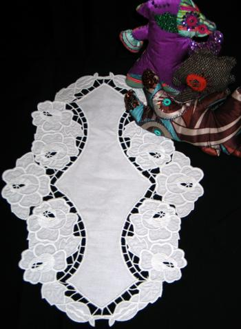 Rose Cutwork Lace Doily
