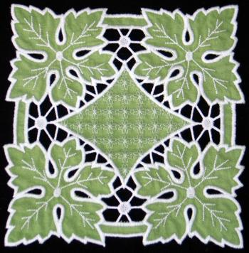Cutwork Grape Leaves Doily
