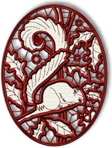 Squirrel Cutwork Lace