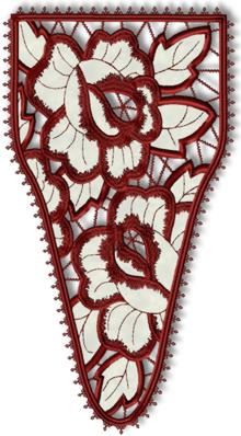 Rose Cutwork Stomacher