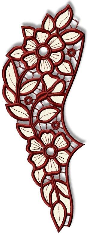 Advanced Embroidery Designs  Primrose Cutwork Lace Border